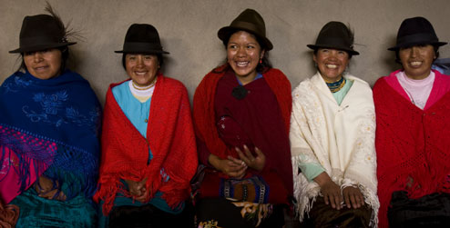 Women farmers from Apahua community, Ecuador