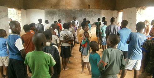 Young people at youth centre in Malawi