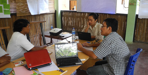 Progressio development worker Darmawan Triwibowo and colleagues from Mata Dalan Institute