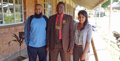 Chief Mutasi with ICS group leaders