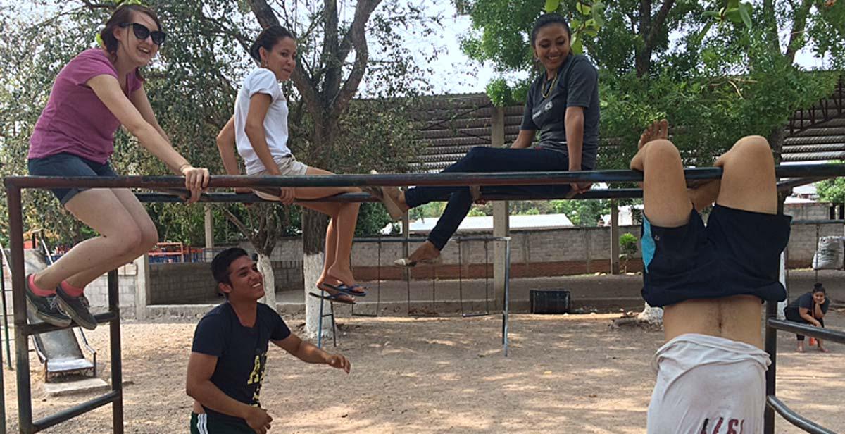 Learning to climb the monkey bars