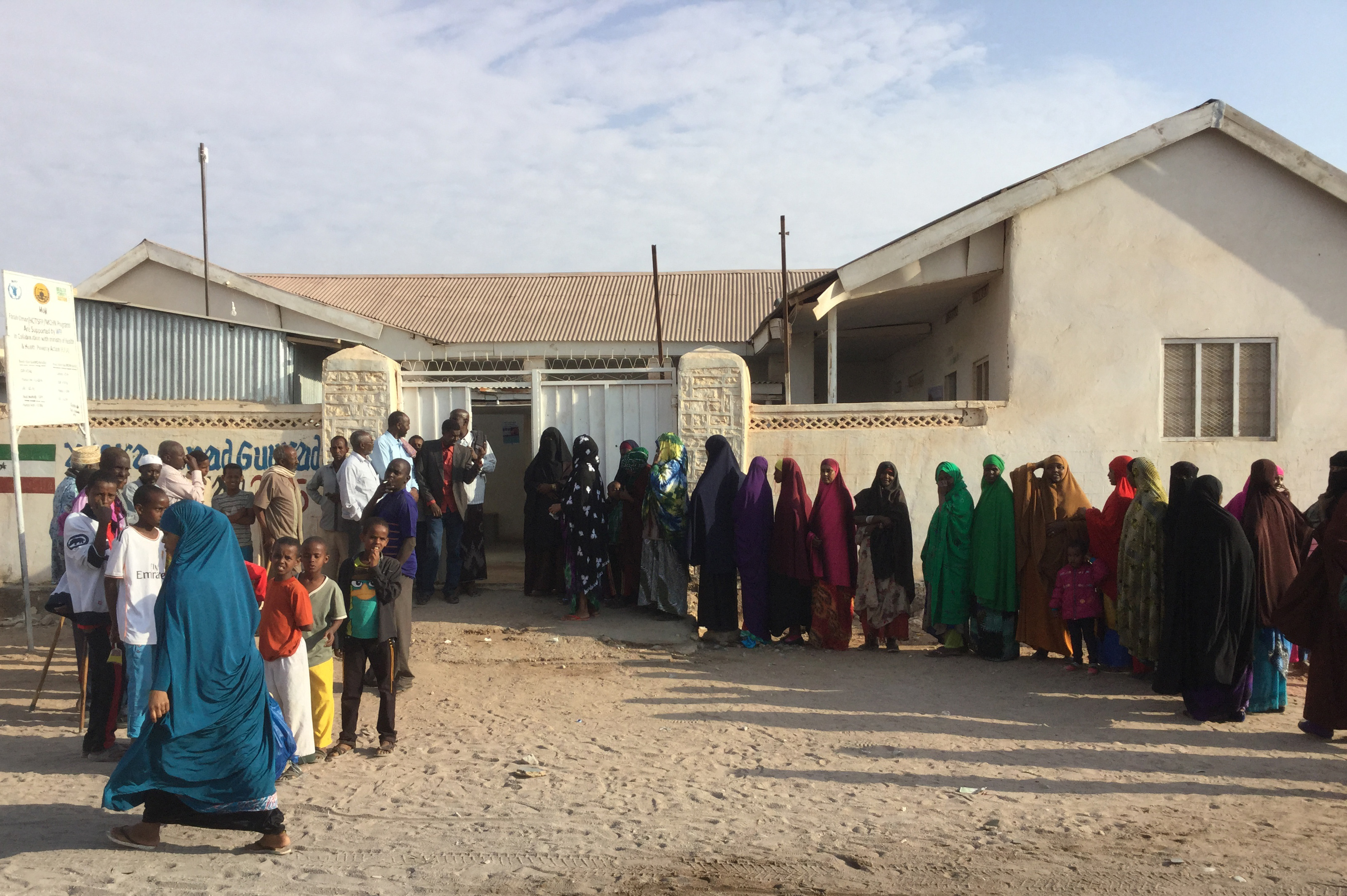 Voters queue to register their vote in Hargeisa, Somaliland