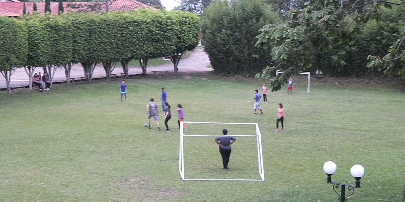 Compulsory football tournament during our training week in Tegucigalpa. Photo by Noel Specowius