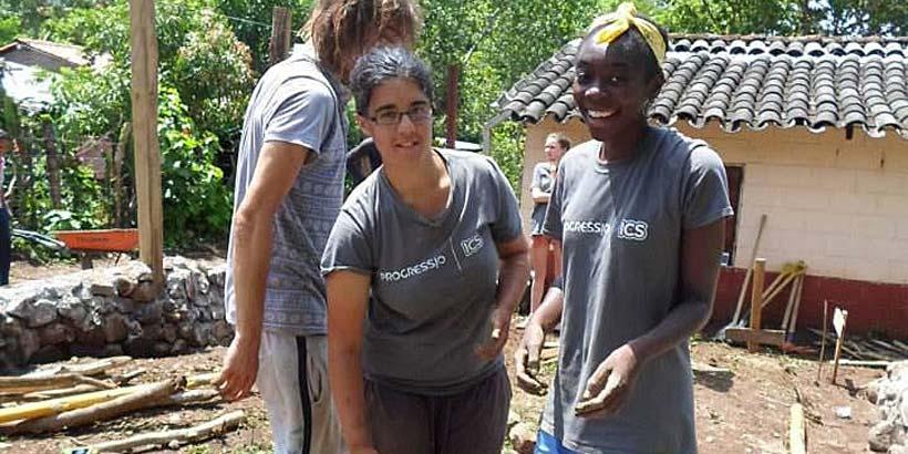 Christina with fellow volunteer