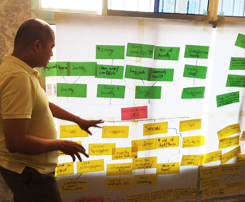 Progressio's Project Officer in Somaliland, Cris Bautista, during an internal advocacy training for the Amplified for Change Project