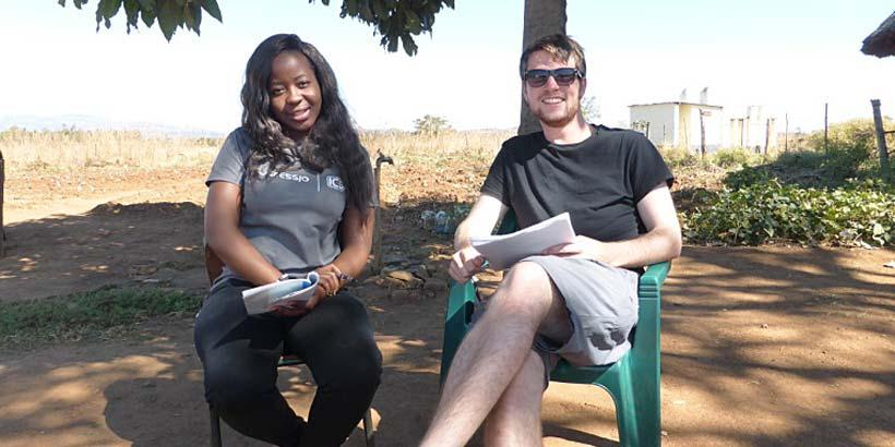 The language team S'thoko and Tim