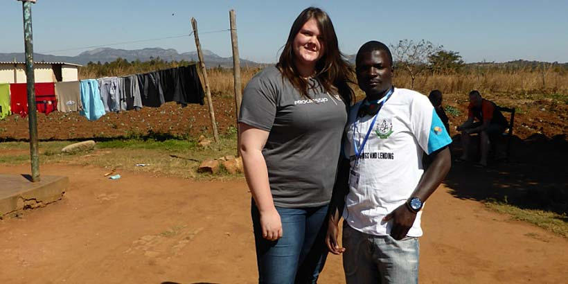 The community liaison team, Lauren and Blessing