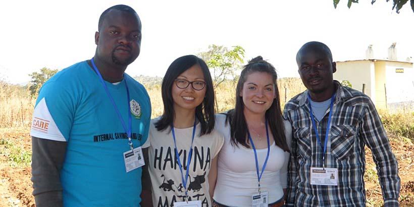 The visual media and media team, Tawanda, Vanessa, Charly and Rutendo