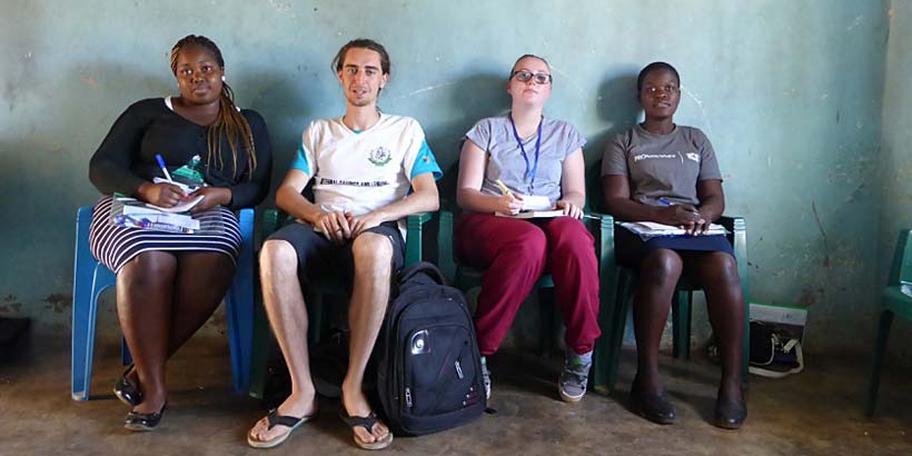 The learning team, Sibo, Greg, Sarah and Agnes