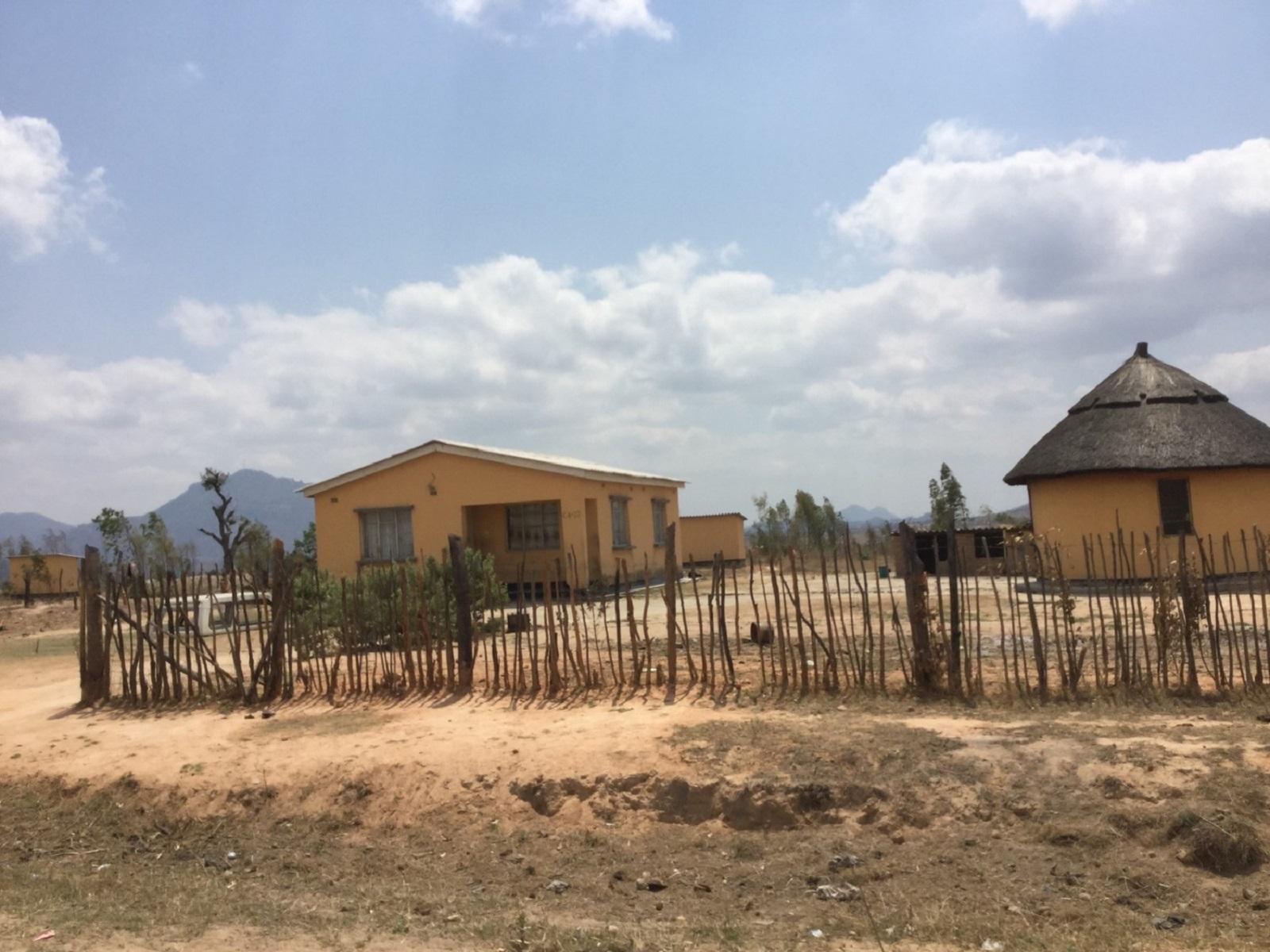 Resettlement houses in Zimbabwe