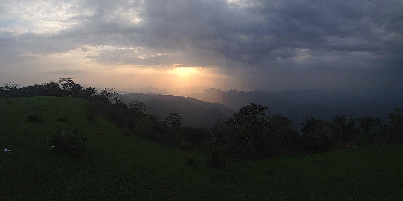 A view from the top at Ocotillo, near Santa Marta
