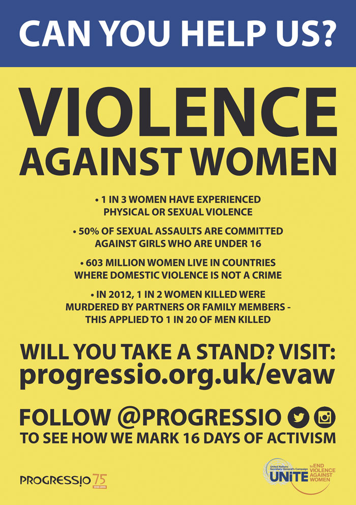 Violence affects one of three women worldwide