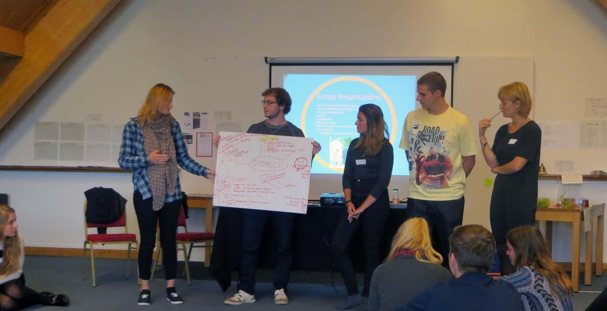 Team DOMCPP presentation at the Returned Volunteer Weekend back in the UK