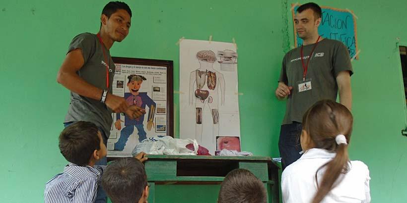 Volunteers delivering a drug prevention fair