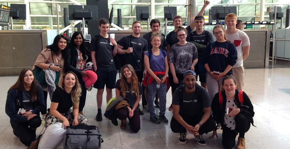 The UK volunteers at Heathrow Airport