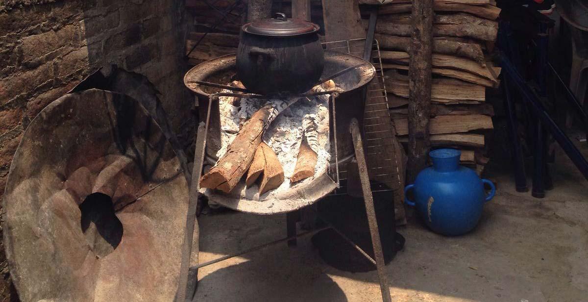 Outside stove