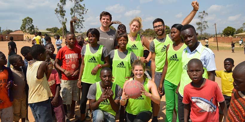 Progressio Netball Team: Ryan, Emily, Carlos, Sangwani, Silvester, Atu, Portia, Temwani and Rosie