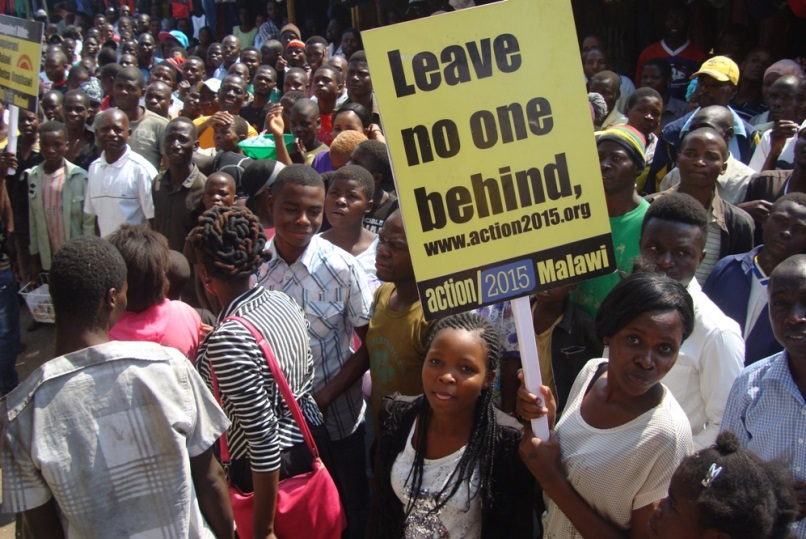 'Light the Way' movements in Malawi. Credit: Action 2015