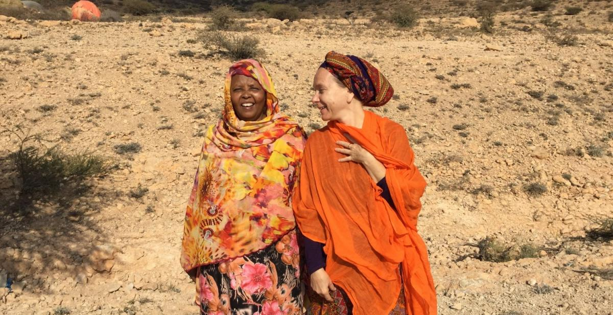 Malou Schueller with Amina Milgo from the core research team, January 2016