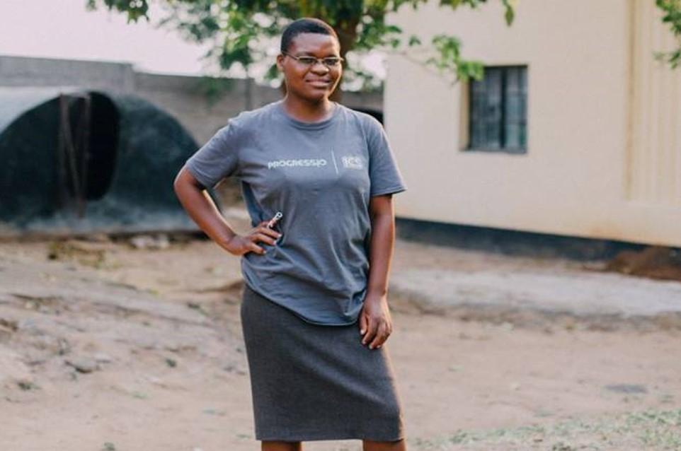 Maria during her ICS volunteer placement, Zimbabwe