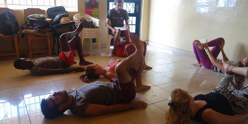 Monday morning yoga sessions at CEGI – Namaste!