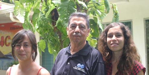 Cooperantes Ainara Arregui, Astalo Garcia y Andrea Luque en Nicaragua.