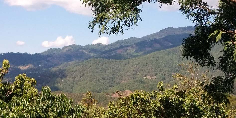 The mountains as seen from the hotel in Santa Lucia