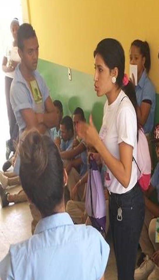 Yunelsi at Youth Committee of Montecristi