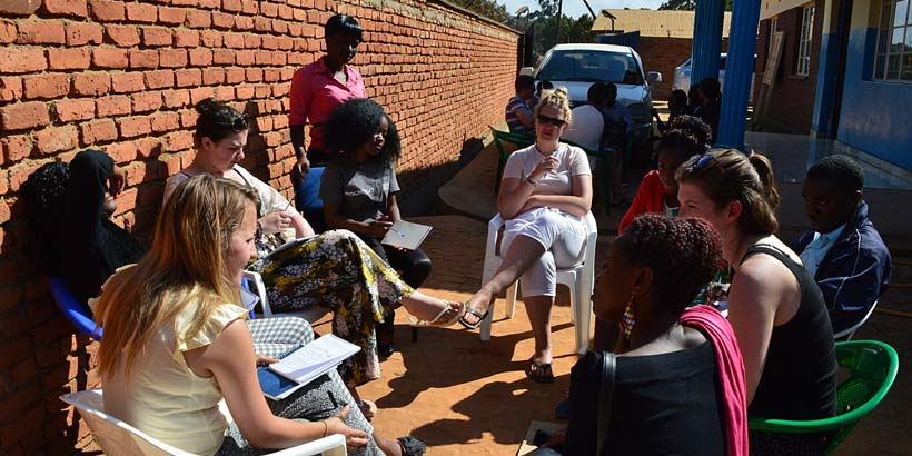 Teresa training the team about HIV