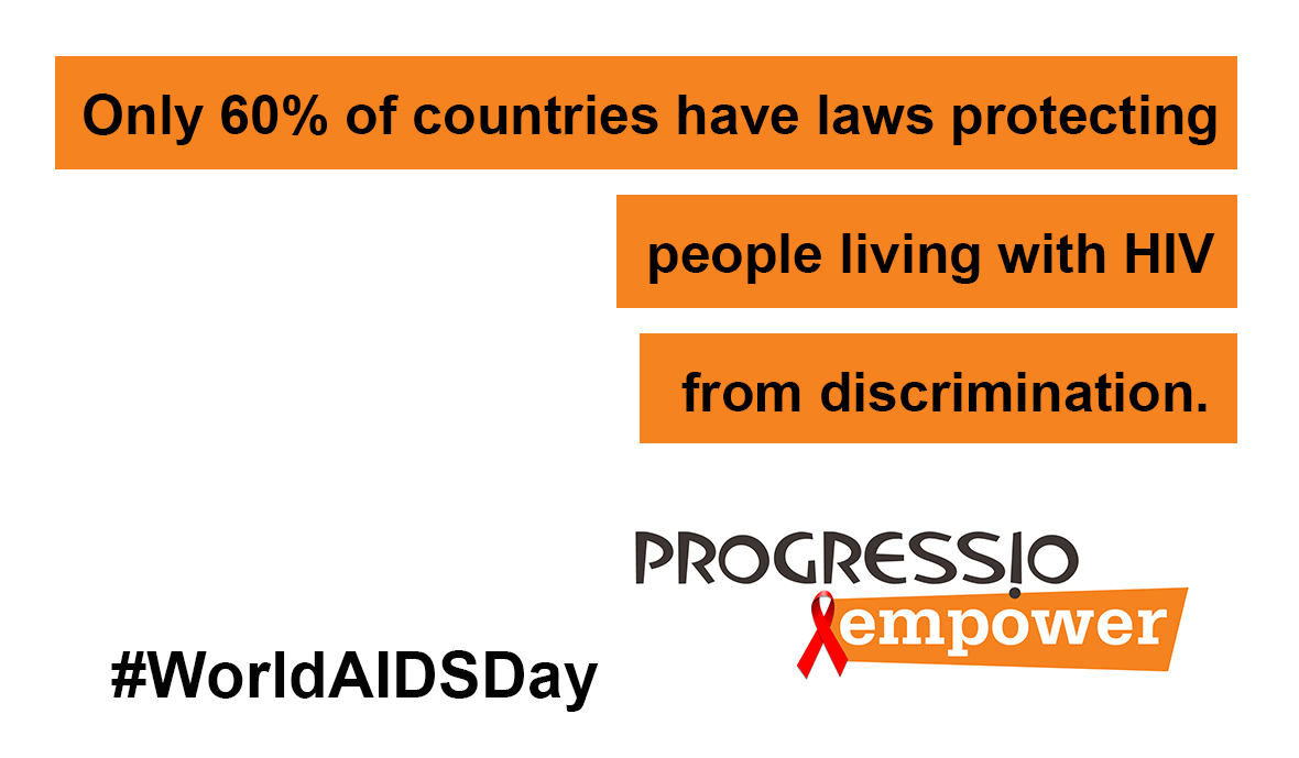 60% of countries have laws protecting people living with HIV