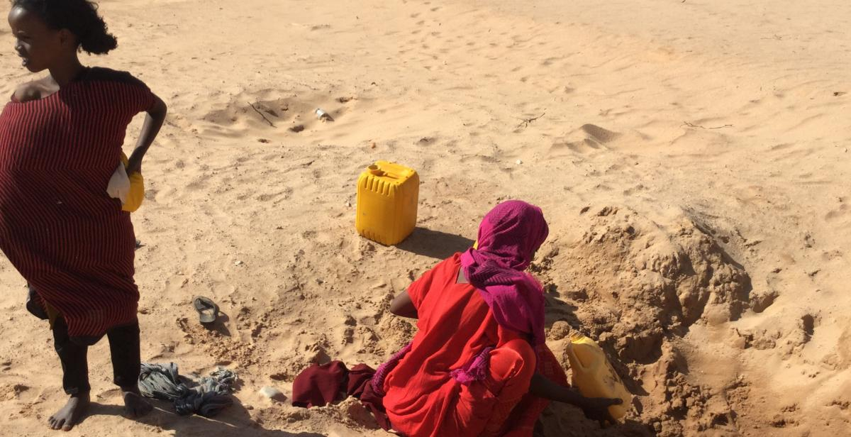 Women in a dried up river bed, Somaliland. Photo by Malou Schueller