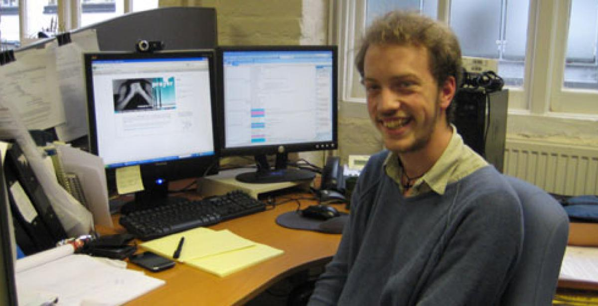 Chris, A progressio volunteer in the London office