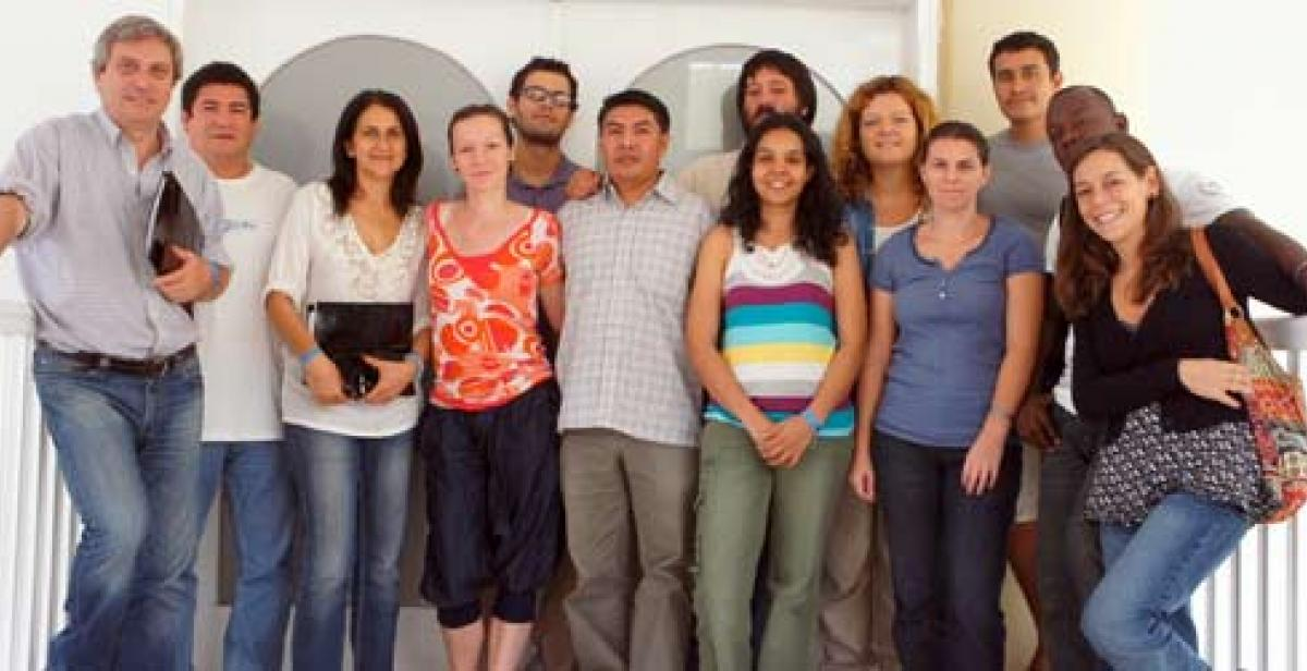 Progressio staff and Development Workers in the Dominican Republic and Haiti.