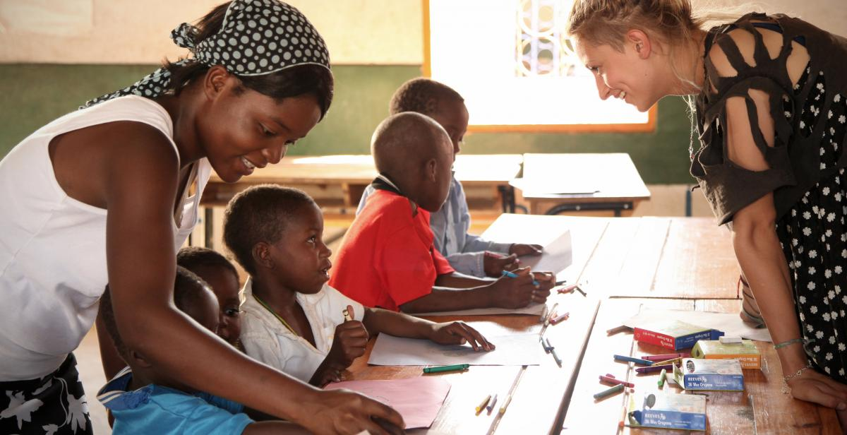 Working with children in Malawi