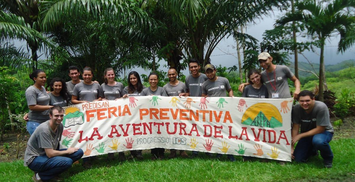 Volunteers organised an fair to raise awareness on drug abuse