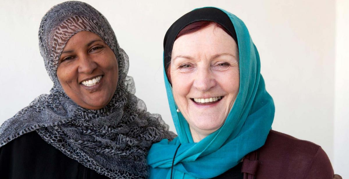 Former development worker Joanna McMinn with colleagues from Nagaad (a network of women's organisations in Somaliland). © Kate Stanworth/Progressio