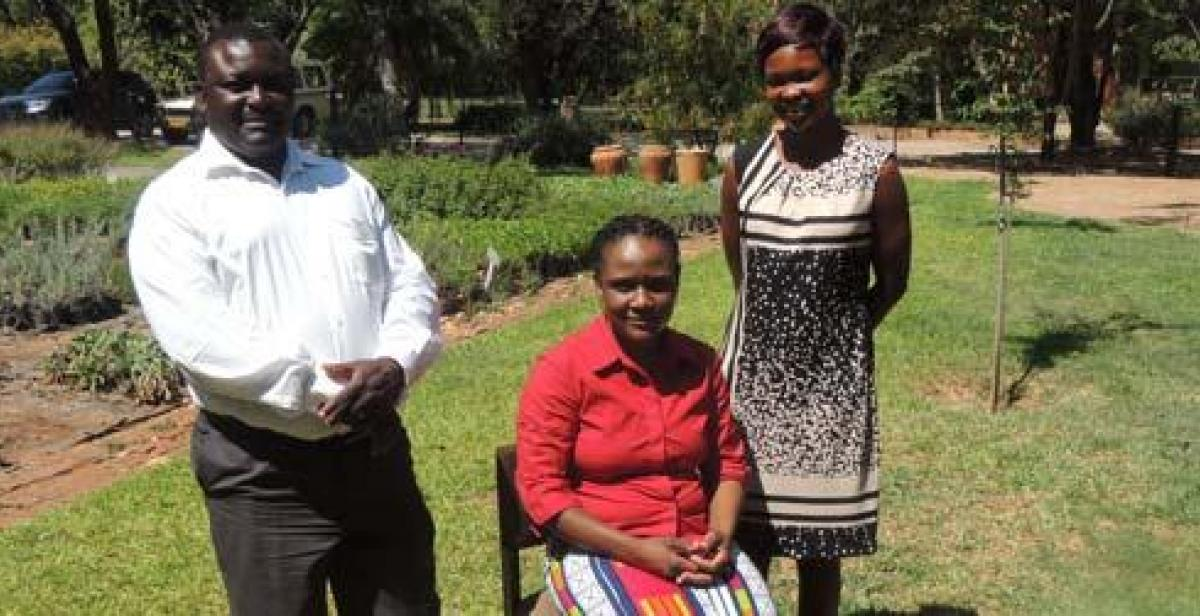 Diego with staff from Environment Africa