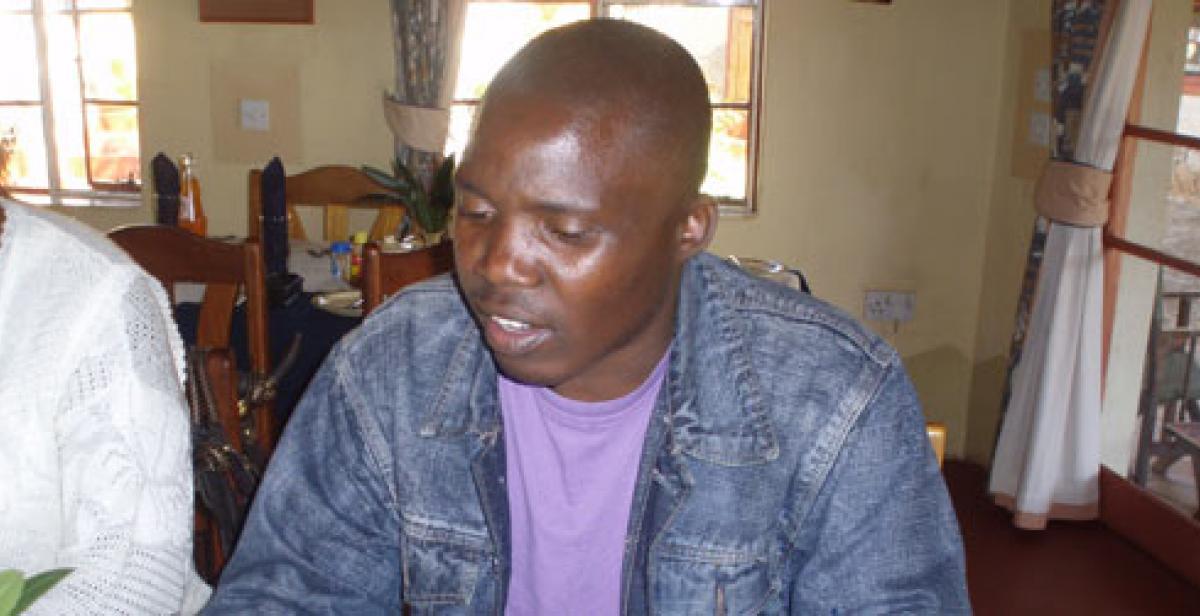 Development worker Arkmore Kori