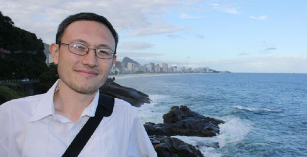 Derek in Rio de Janeiro, in June 2012, attending the Rio+20 United Nations Conference on Sustainable Development.