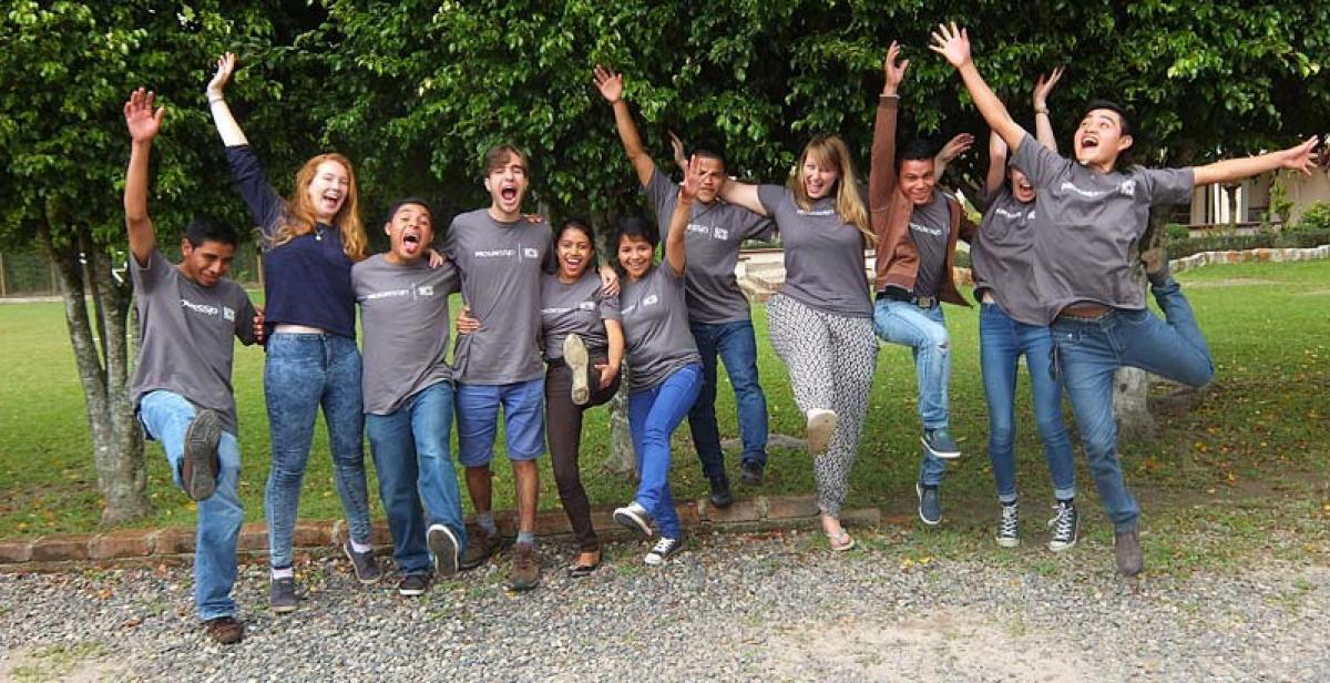 Team El Carrizal at the training week in Tegucigalpa