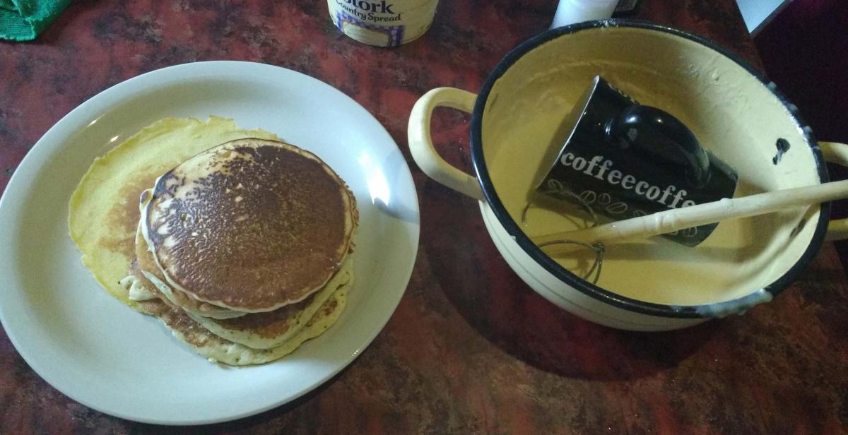 Pancakes in process