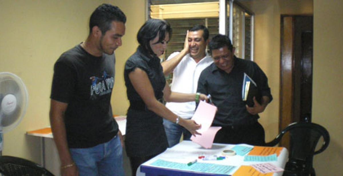Participants on a gender workshop on HIV