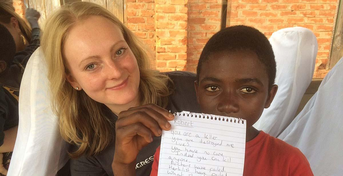 A 12-year-old boy in Champhira wrote and presented a speech on HIV