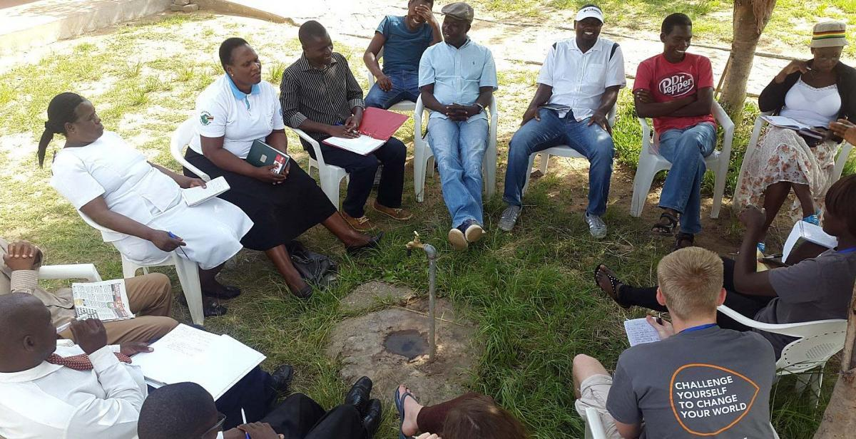The HIV and AIDS awareness group meeting the community patrons who work with MASO