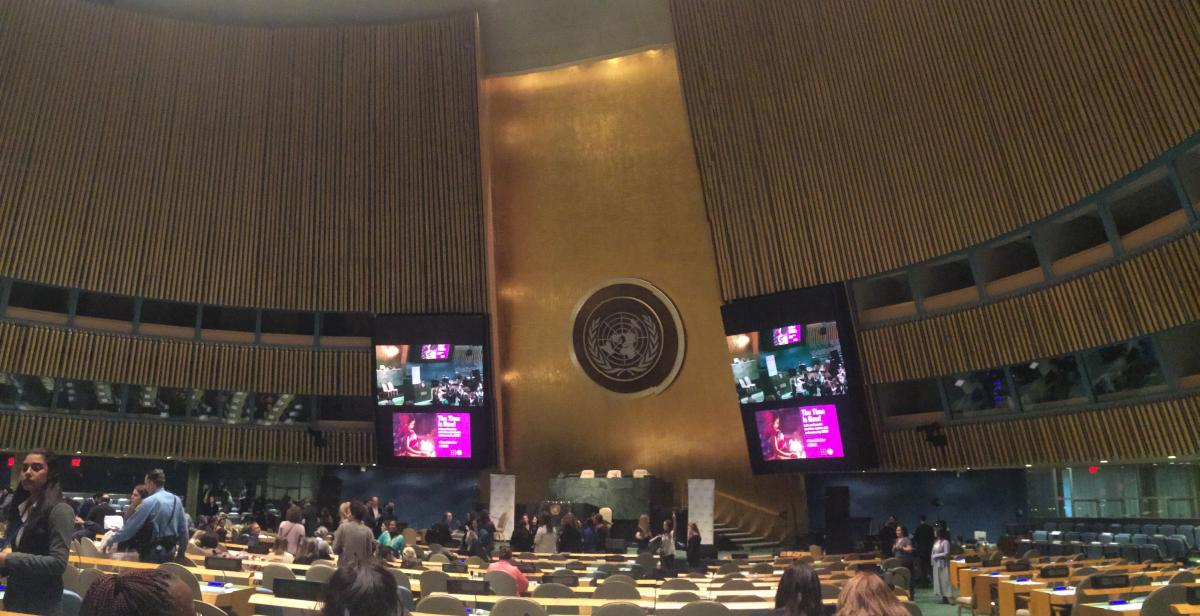UN General Assebly Hall during the CSW 60
