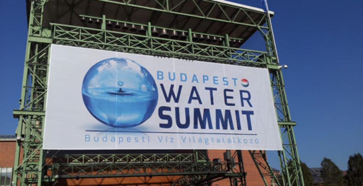 Budapest Water Summit banner