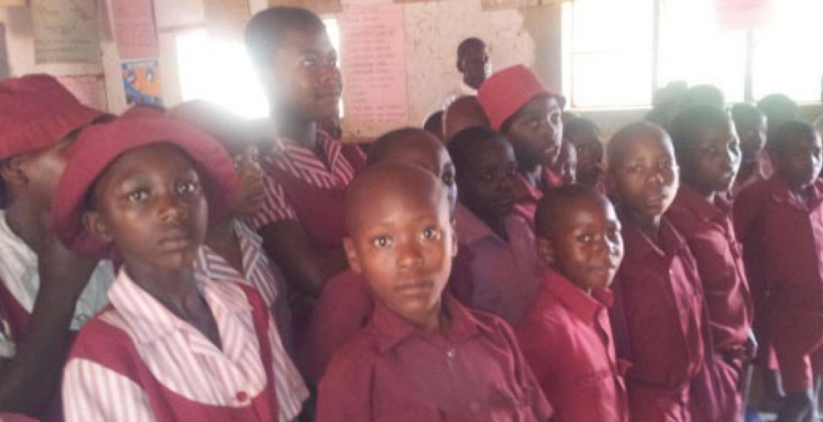 Children at Zimbabwean primary school