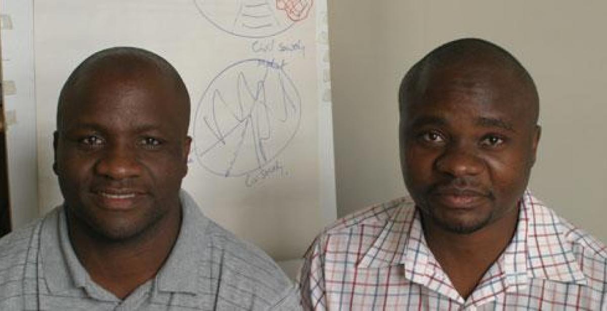 Chris Mweembe (left) and Machinda Marongwe (right)