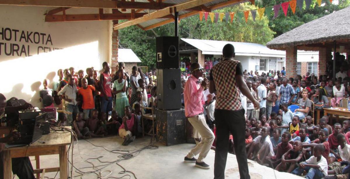 Talent, awareness raising and testing show in Nkhota-koa, Malawi