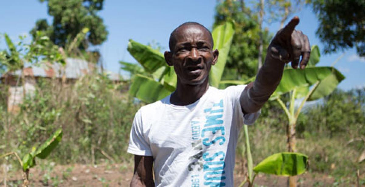 Elismar, a farmer in Lamine